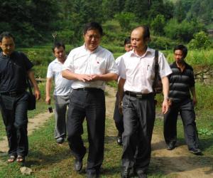 县委书记袁竞在大桥村调研后水河库区移民安置工作