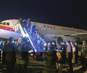 香港直飞遵义首航成功 遵义机场临时航空口岸正式开放